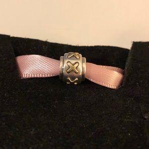 Pandora 2-tone X design bead